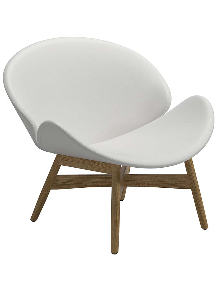 Seat Outdoor Leather White