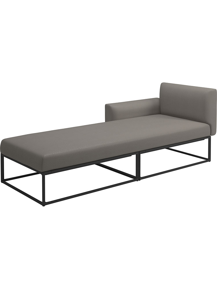Right Daybed | Frame Powder-Coated Aluminum, Meteor