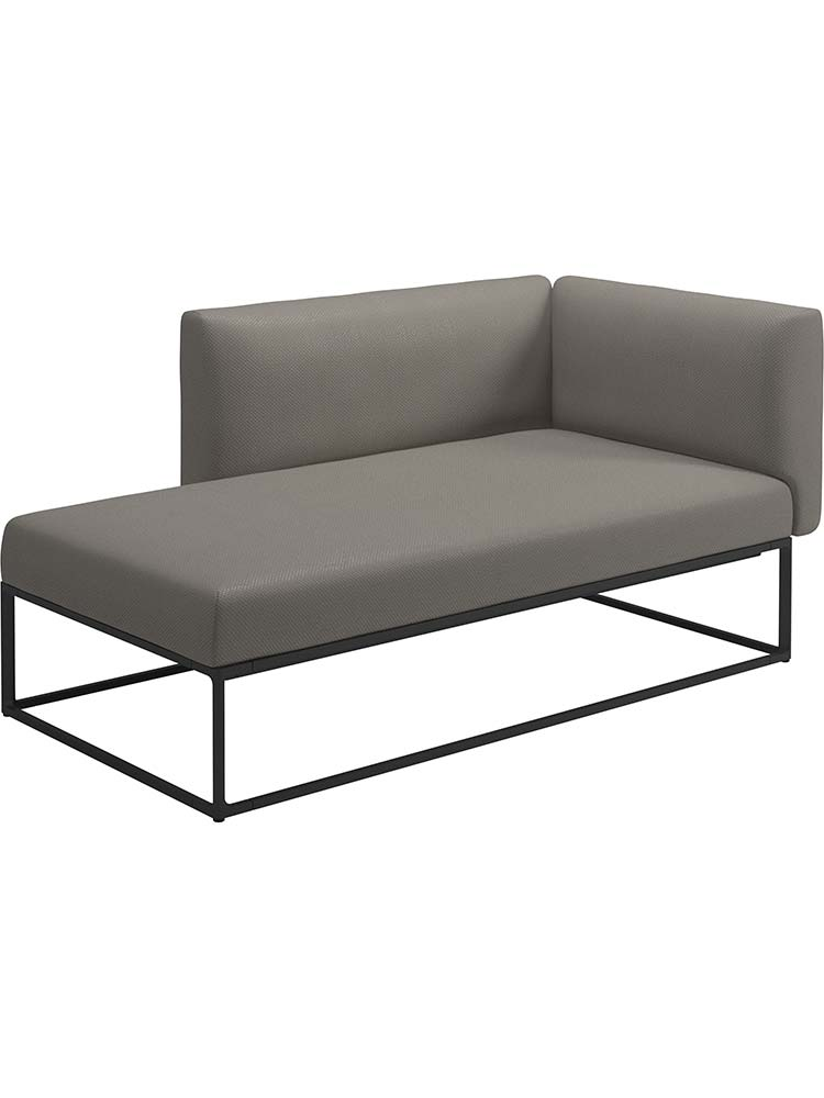 Right Chaise Unit | Frame Powder-Coated Aluminum, Meteor