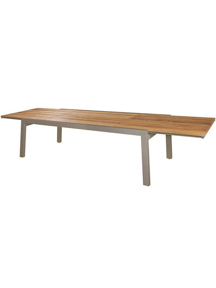 Frame Aluminum Powder Coated Taupe   Top Recycled Teak