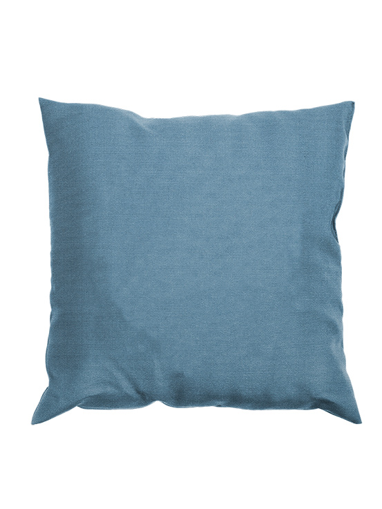 "Gloster 20"" Throw Pillow with Mineral Blue Fabric"