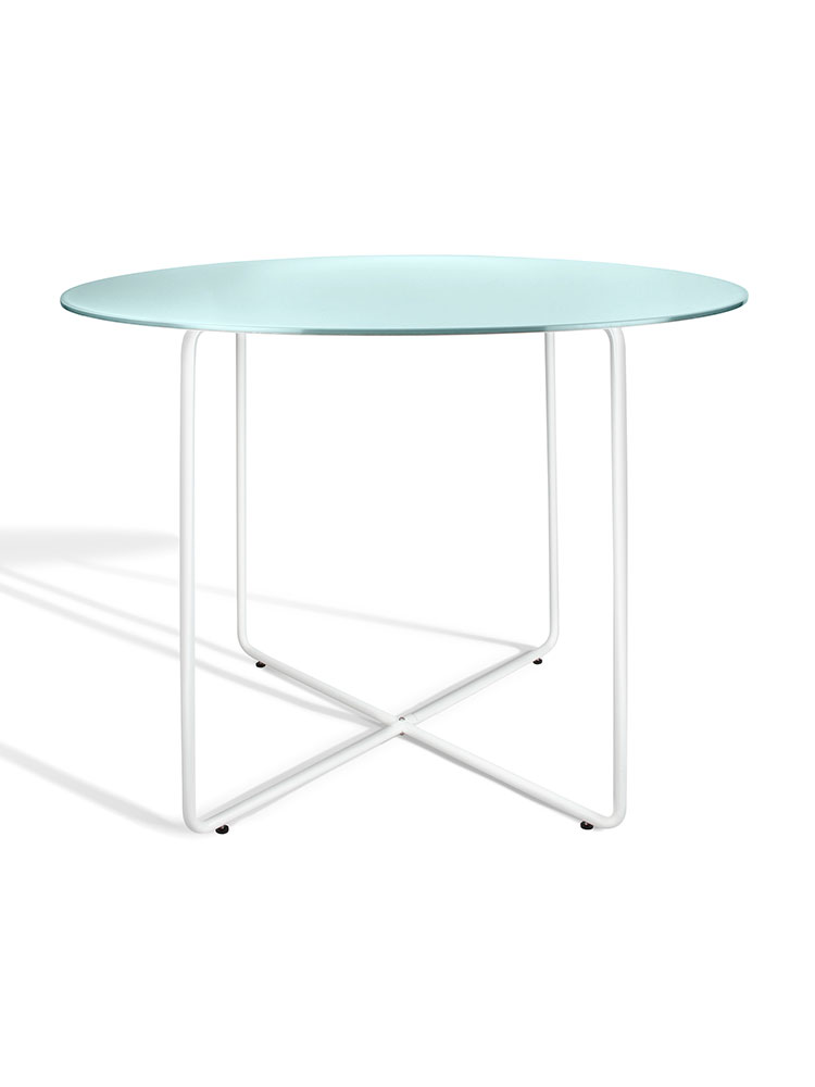 Table Metal, White (W)