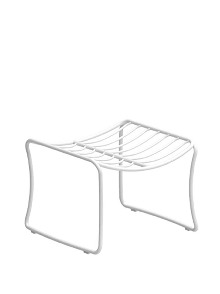 Folia Footrest in Coated Stainless Steel White