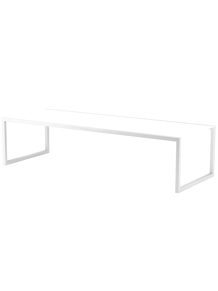 Frame Powder Coated Stainless Steel White | Top Ceramic White