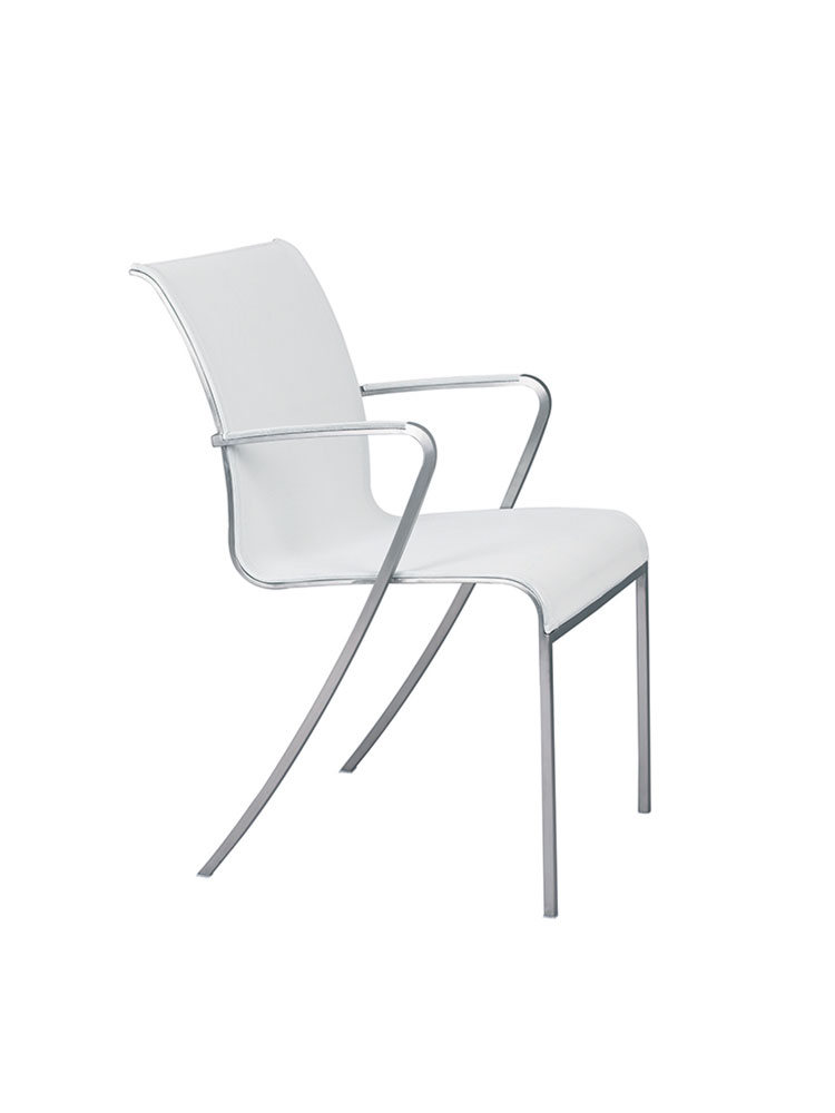 Frame Brushed Stainless Steel | Seat Batyline White
