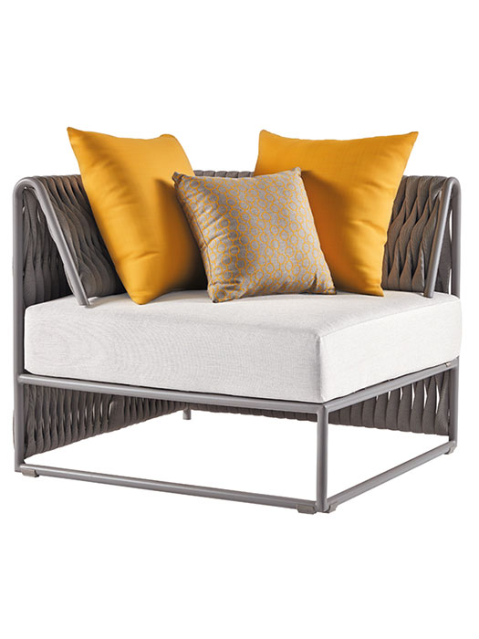 """Shown with Two 19.7"""" Square Dupione & One 15.8"""" Square Edgar Deco Cushion (included in price)"""