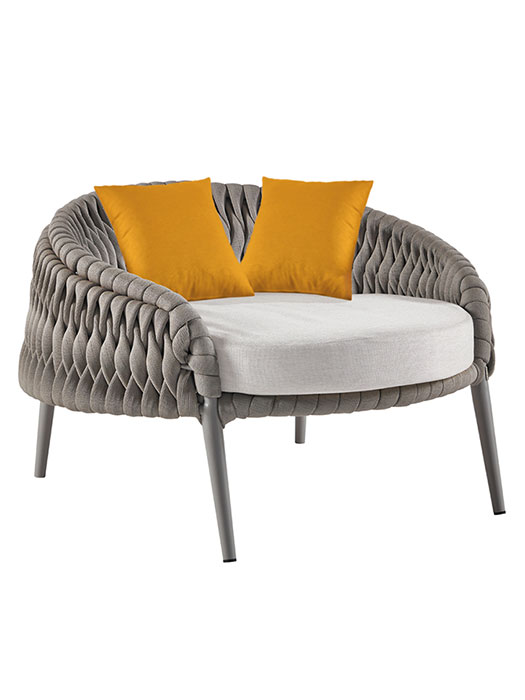 """Shown with Two 19.7"""" Dupione Cushions (included in price)"""
