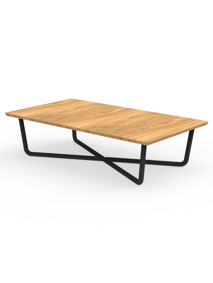 Frame Powder-Coated Aluminum, Graphite | Top Natural Teak