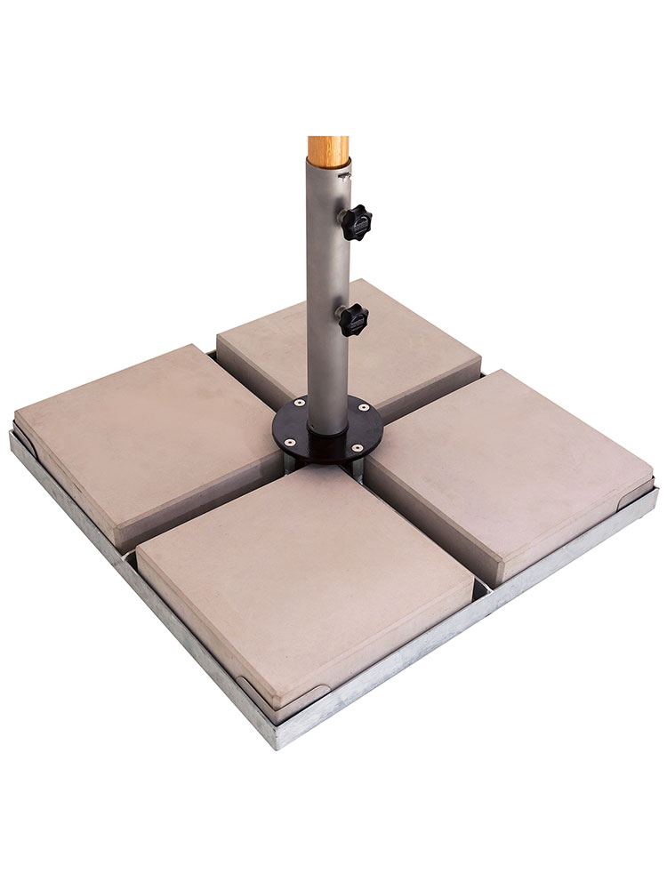 Paver Frame Base for 4 Pavers | Pavers Not Included Only for Display as a Reference