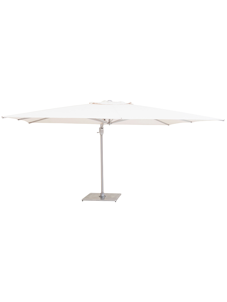 11.5' Pavone Round Foldaway Cantilever with Grip Handle | Canopy Sunbrella Natural (8 ribs | base required)