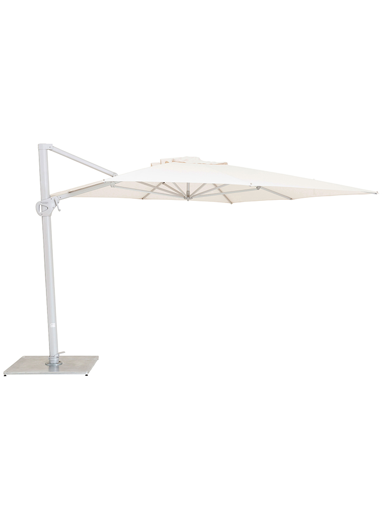 9.8' Pavone Square Foldaway Cantilever with Grip Handle | Canopy Sunbrella Natural (8 ribs | base required)