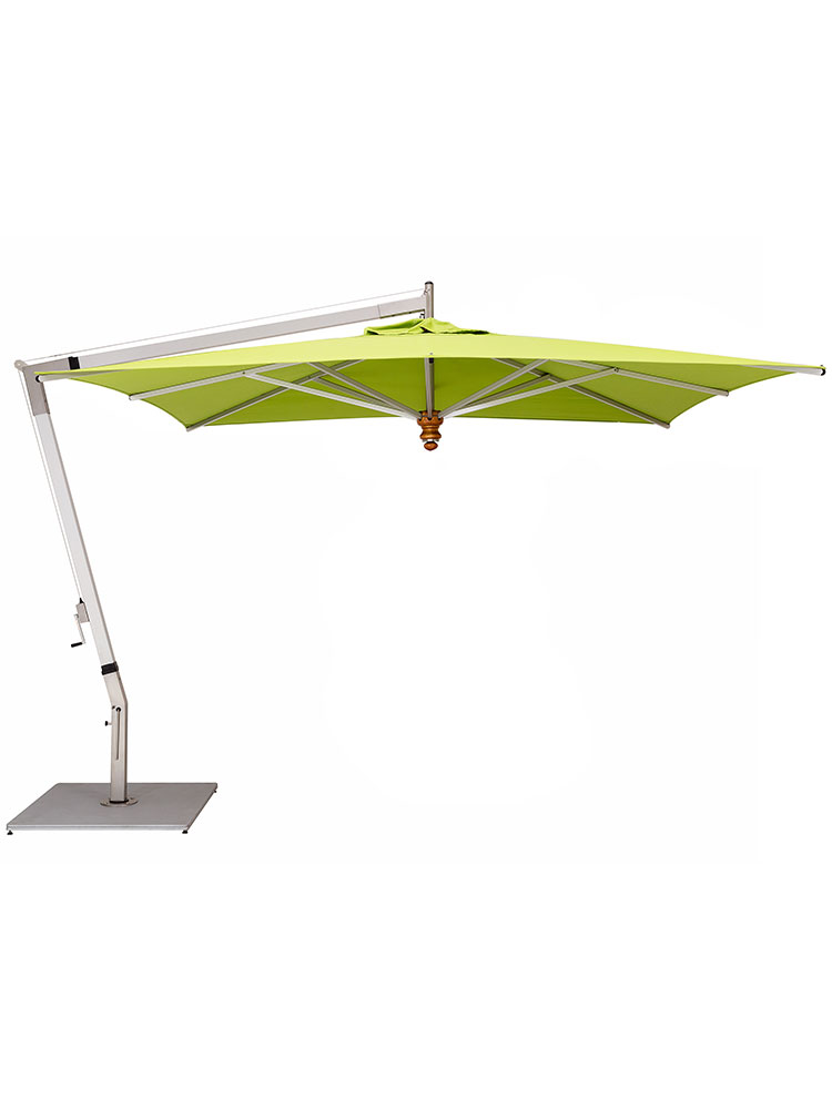 Pendulum Square Cantilever with Sunbrella Macao Canopy | Frame Aluminum (base required, sold separately)