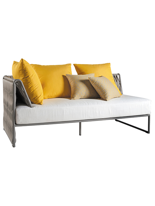 """Shown with Three 19.7"""" Square Dupione & Two 15.8"""" Square Edgar Deco Cushions (included in price)"""
