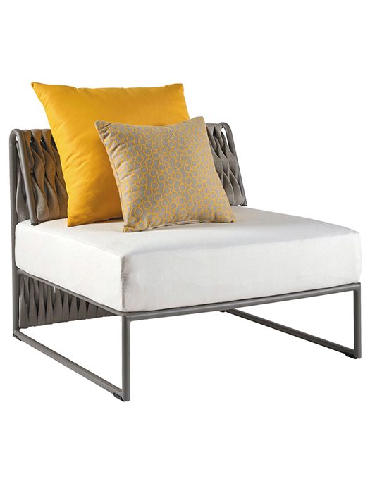 """Shown with One 19.7"""" Square Dupione & One 15.8"""" Square Edgar Deco Cushion (included in price)"""