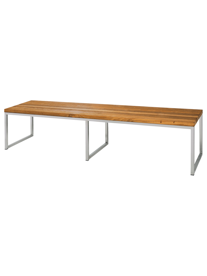 Frame Stainless Steel, Original Hairline Finish   Seat Recycled Teak Brushed