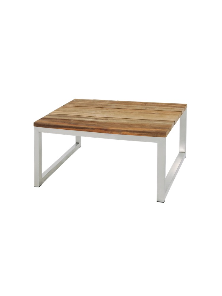 Frame Stainless Steel, Original Hairline Finish   Top Recycled Teak Brushed