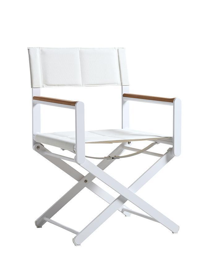 Oskar Director's Chair in One of Three Possible Color Combinations: White—White
