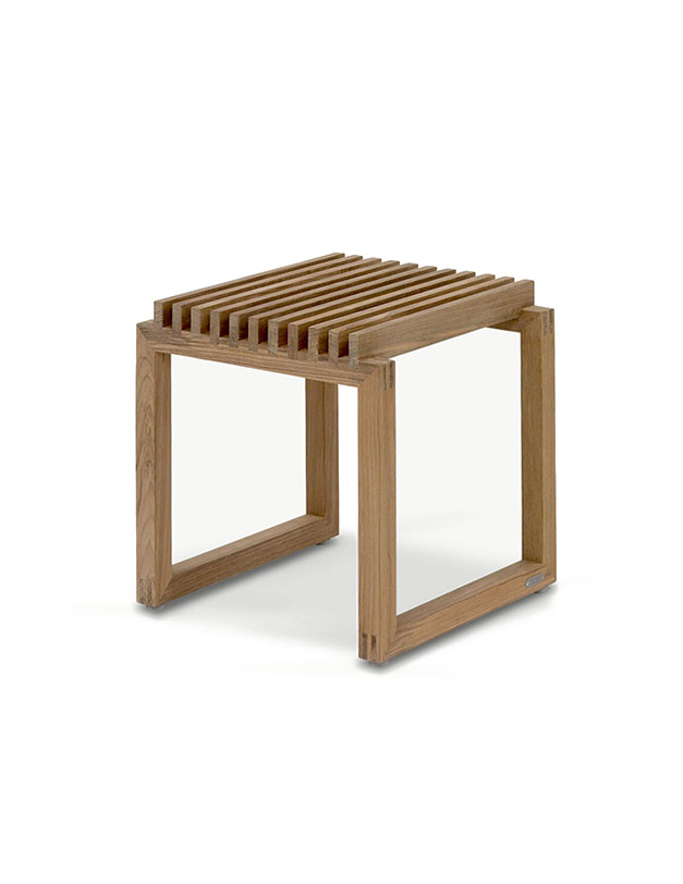 Cutter Stool in Natural Teak