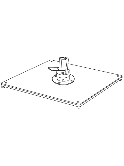 Rendering of Double Stack Metal Plate with Pedal Spigot (latter included with Pavone umbrella)