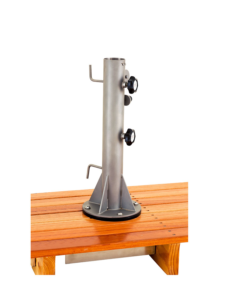 Universal Below Deck Mount with Rope Lock Pole Stand for Storm Umbrellas