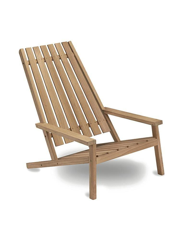 Between Lines Teak Deck Chair without Cushion