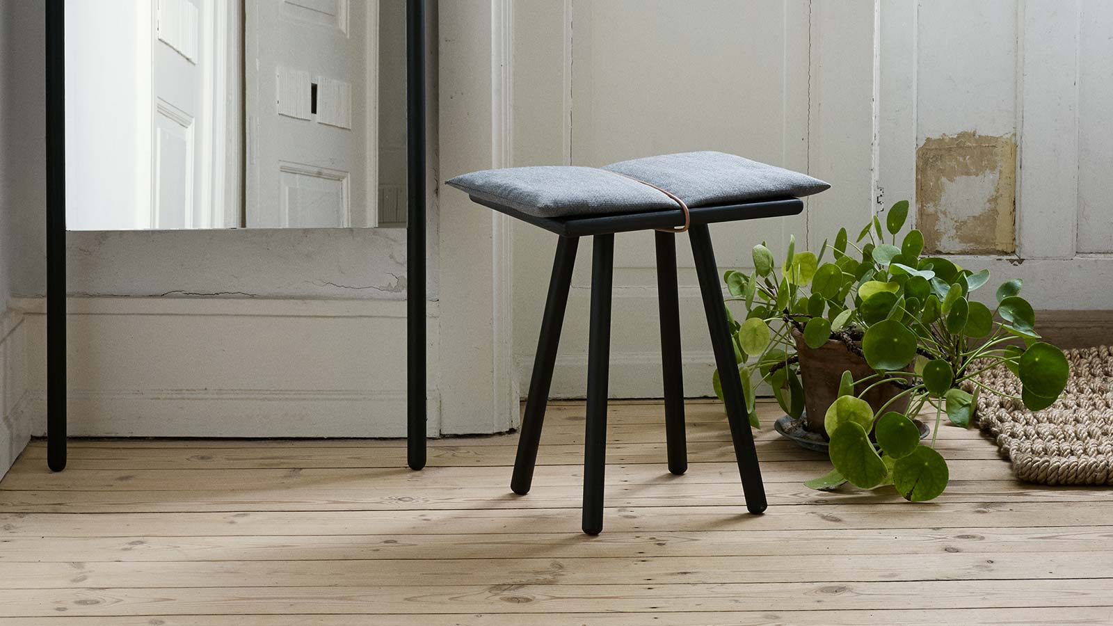 Skagerak Georg Black Oak Stool